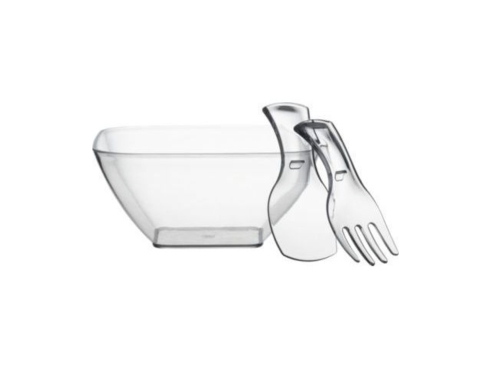 Provence Exclusives  Acrylic Square Salad Bowl with Monogrammed Tossers $46.00