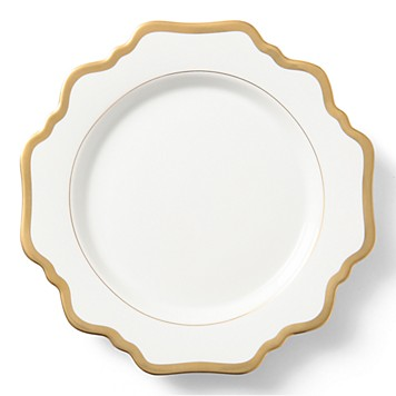 Anna Weatherley  Antique White Gold Salad Plate $58.00