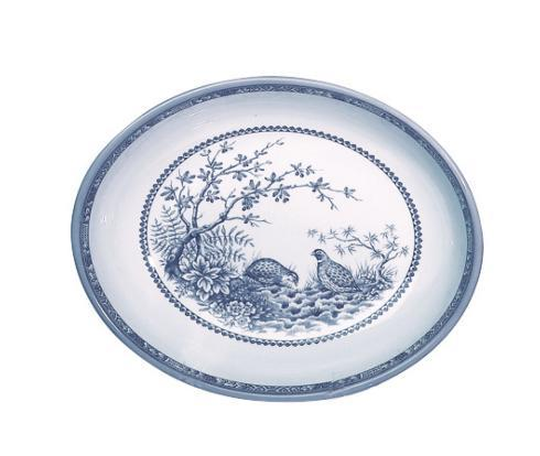 Blue Quail Oval Vegetable Bowl