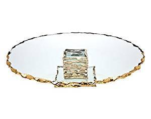"Provence Exclusives  Harper Gold harper 13"" Cake Plate $95.00"