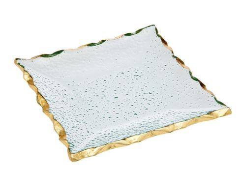 """Provence Exclusives  Harper Gold 7"""" Square Plate $28.00"""