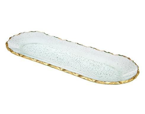 Provence Exclusives  Harper Gold Oval Serving Tray $65.00