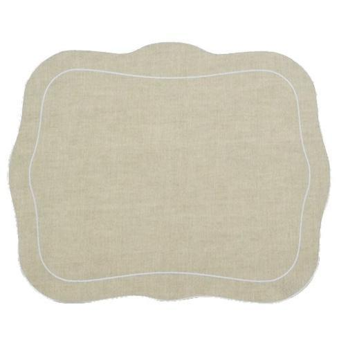 Skyros Designs  Linho Placemats  	Set of 4 Placemats Natural with White Placemats $88.00