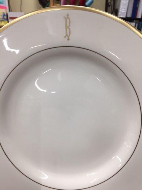 $80.00 Signature Gold Dinner Plate with Halo Home Mono