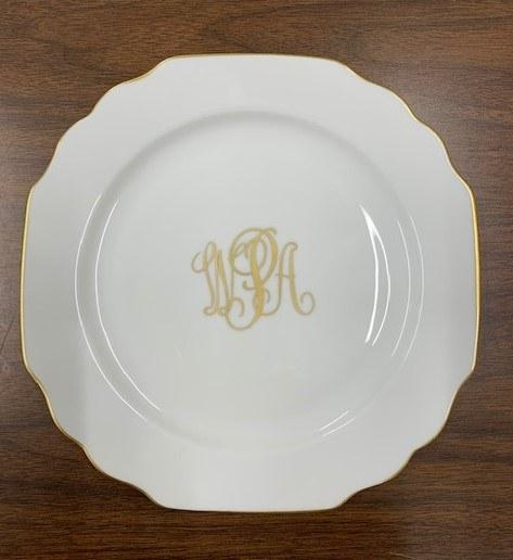 Provence Exclusives  Pickard Georgian Monogrammed Salad Plate $59.00