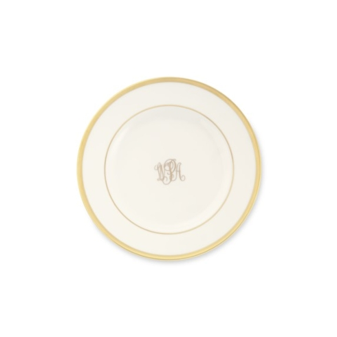 $48.00 Signature Monogrammed Bread & Butter Plate