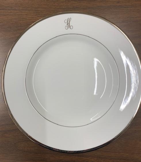 $115.00 Platinum Monogrammed Charger