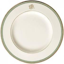 $97.00 Signature with Green Band - Dinner plate with MONO