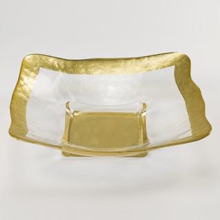 Badash   Square Gold Bowl (large) $90.00