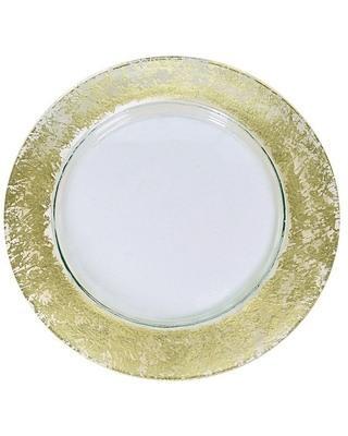 """$60.00 Gold Wabi Sabi 13"""" Charger"""