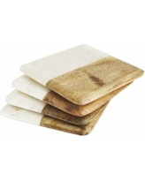 Provence Exclusives  Thirstystone White Marble and Wood Coaster Set $25.00