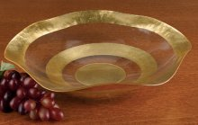 Badash   Stripes 16 inch Round Wave Bowl $79.00