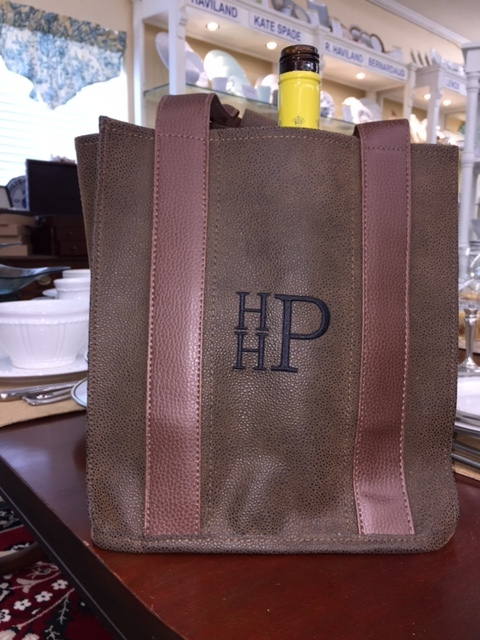 Brown Party to Go Tote with Monogram
