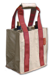 Khaki and Maroon Wine Tote with monogram collection with 1 products