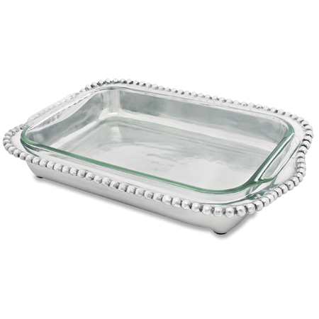 Provence Exclusives   Pewter Beaded Casserole Holder $52.00