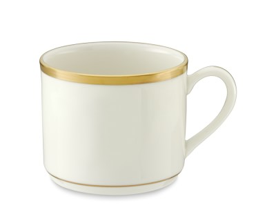 $108.00 Signature Gold Can Cup and Saucer