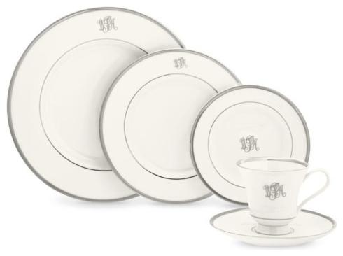 $80.00 Platinum Monogrammed Dinner