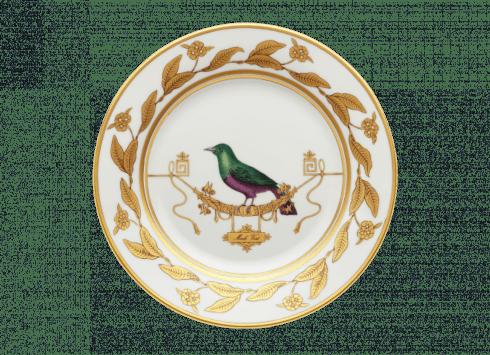 $195.00 Dessert Plate Voliere Merle Vert