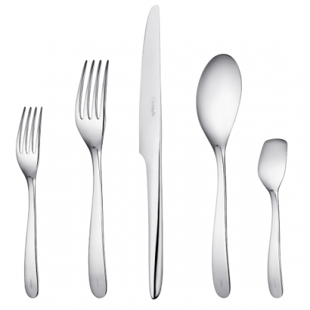 $144.00 L\'Ame De Christofle Stainless 5 Piece Place Setting