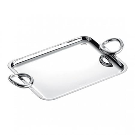 Christofle  Vertigo Silver- Plated Tray With Handles $750.00