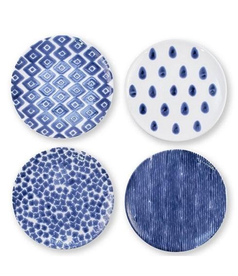 Vietri Santorini Dinner Plates Set of 4