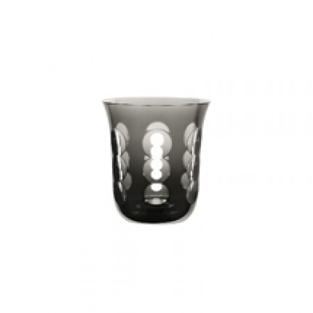 Christofle  Kawali Gray Crystal Water Glass $160.00