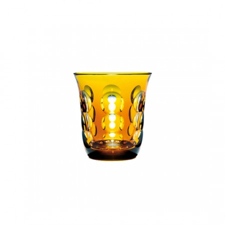 Christofle  Kawali Amber Crystal Water Glass $160.00