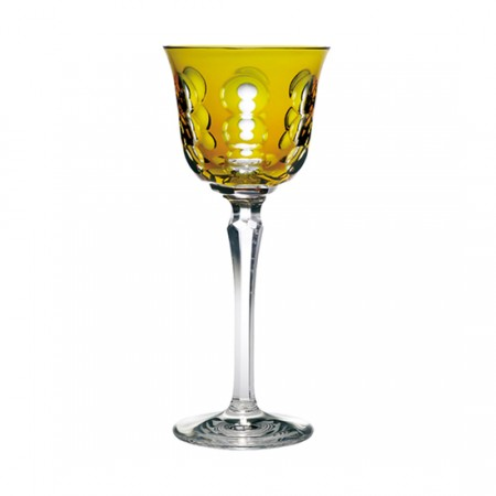 Christofle  Kawali Amber Crystal Wine Glass $200.00