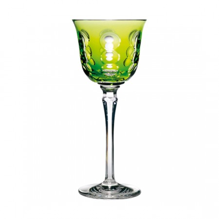 Christofle  Kawali Lime Crystal Wine Glass $200.00