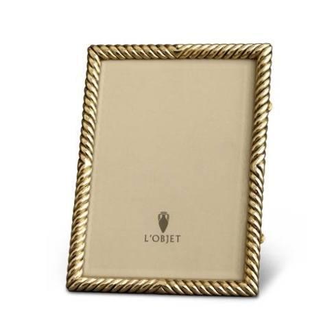 $250.00 L\'Objet Gold Plated Deco Twist Frame 8 x 10