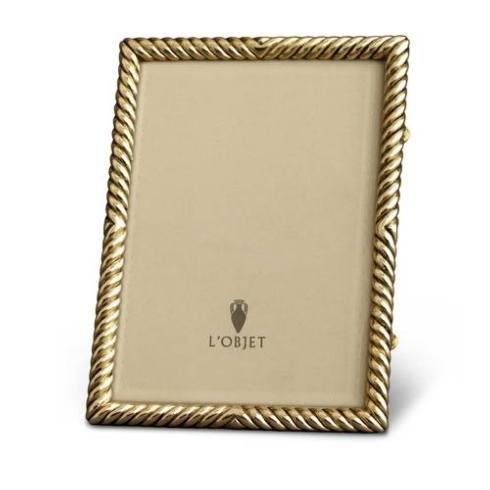 $195.00 L\'Objet Gold Plated Deco Twist Frame 5 x 7