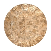 Capiz Champagne Round Placemat collection with 1 products