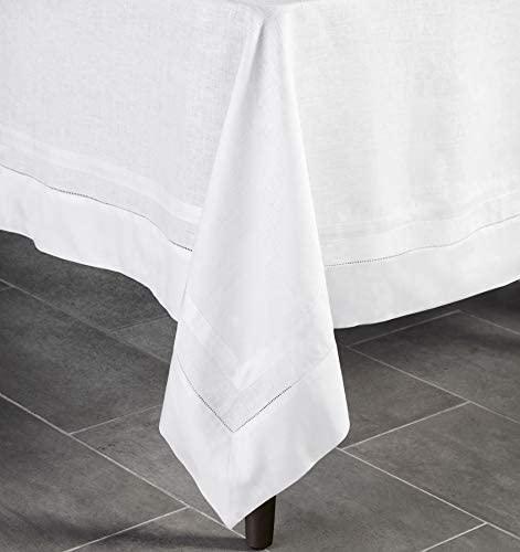 SFERRA   Festival Hemstitch White Table Cloth 66x124 $194.00