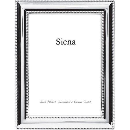 Tizo Designs Siena Beaded Border Silver Plate 4x6
