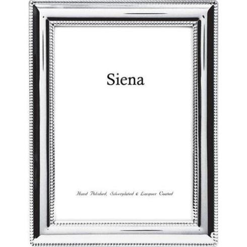 Tizo Designs Siena Beaded Border Silver Plate 5x7