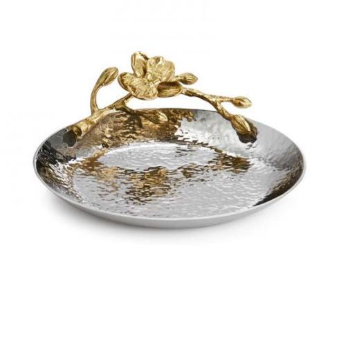PS The Letter Exclusives   Michael Aram Gold Orchid Small Round Trinket Tray $70.00