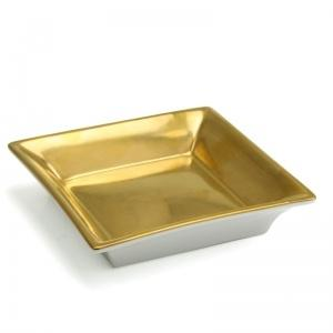 $215.00 Carree Gold Square Dish