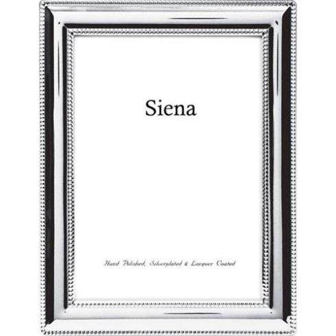 Tizo Designs Siena Beaded Border Silver Plate 8x10