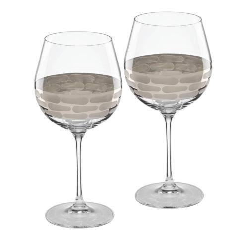 Michael Wainwright  Truro Platinum  Red Wine Glass Set of 2 $85.00