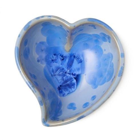 $85.00 Crystalline Heart Twist Bowl in Cobalt