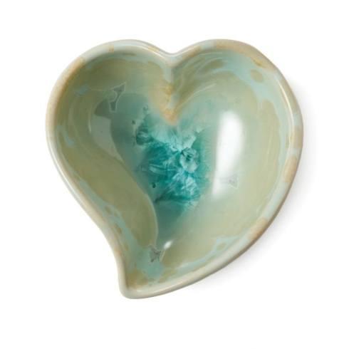 $85.00 Crystalline Heart Twist Bowl in Jade
