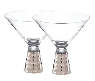 Michael Wainwright  Truro Platinum  Martini Glass set of 2 $125.00