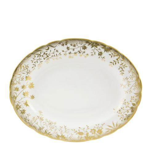 $430.00 Royal Crown Derby Arboretum Gold Small Oval Platter