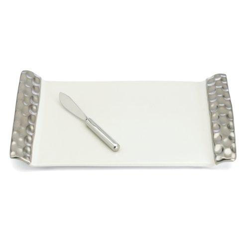 $160.00 Truro Platinum Cheese Tray