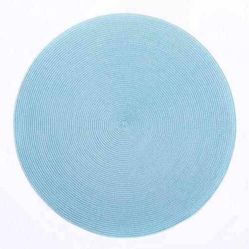 Round Placemat in Aqua