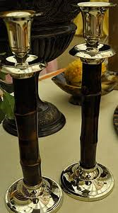 Francis Stoia Large Bamboo Candlesticks collection with 1 products