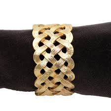 L'Objet  Napkin Rings Braid Gold Napkin Rings $130.00