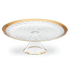 Michael Wainwright  Truro Gold Truro Gold Cake Plate with Stand $240.00