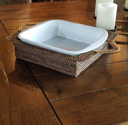 $145.00 Square Wrapped Handle Tray