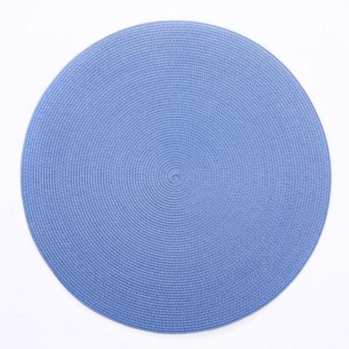 Deborah Rhodes   15\' Round Colony Blue Placemat $20.00